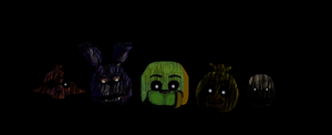 Five nights at Freddy's 3 Phantoms Ms Paint by VenomDesenhos