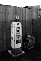 Old fashioned gas pump by tjohare