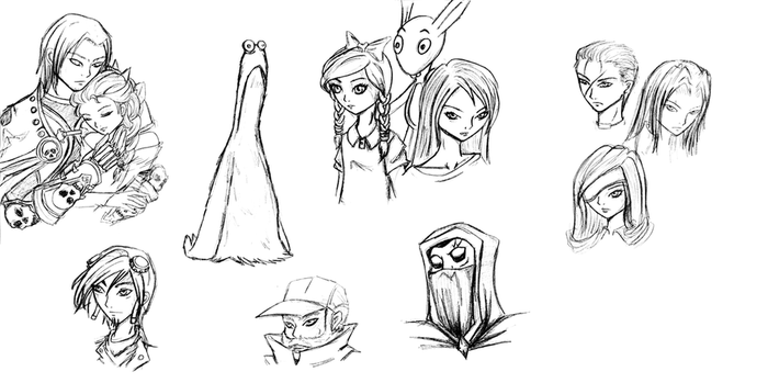 Sketches 37 Random FanArt by ManaMagician