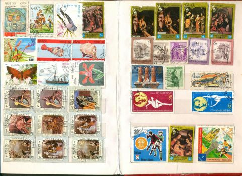Postage Stamp collection 8 by vinkrins