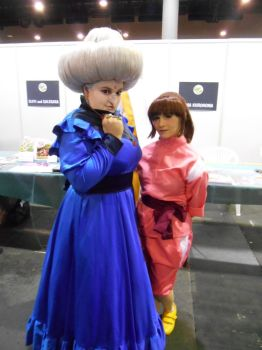 EpicCon Frankfurt 2016 cosplay: Yubaba and Chihiro by Lalottered