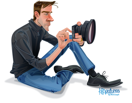Vector Caricature of iPhone photographer by Kiracatures