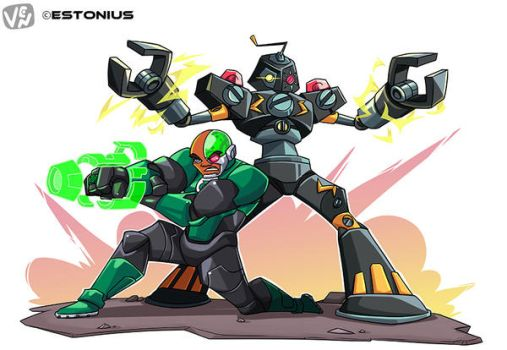 commission: cyborg and jodohirzx team-up by chikinrise
