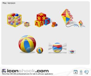 Kids web  icons by Iconshock