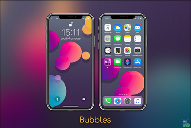 Bubbles iPhone X by iBidule
