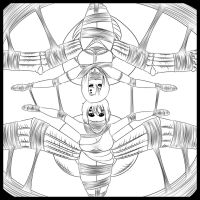 Stream Lineart - Spiders in the Web by Humite-Ubie