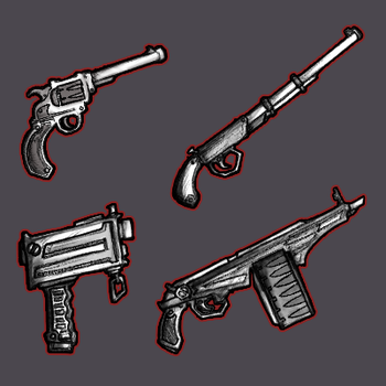College project art dump // Weapons by GaddTheThief