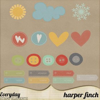 Everyday Stamps by Harper Finch by harperfinch