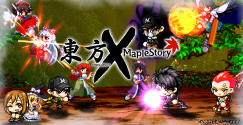 Touhou Project x MapleStory (Sprite Scene #2) by SoldierSuper117