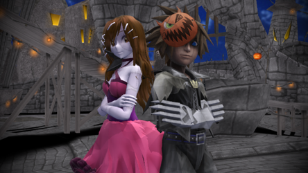 At Halloween Town With Sora [Kingdom Hearts 2] by PrettyKitty23