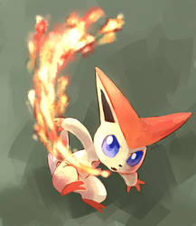 Victini used Incinerate by yassui