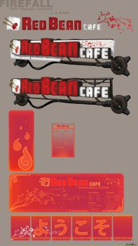 Red Bean Cafe Sign Concept by JayAxer