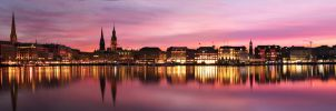 Hamburg Alster Panorama by IndependentlyConceal