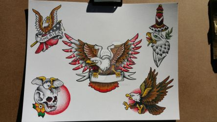 eagle tattoo flash #2 by TheRaptor-Wolfy