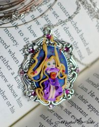 I See the Light - Rapunzel Cameo Necklace by michiiyuki