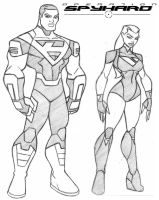 Legend and Vapor costume sketch by icemaxx1