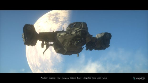 Heavy dropship concept (Lost Future) by nobbe42