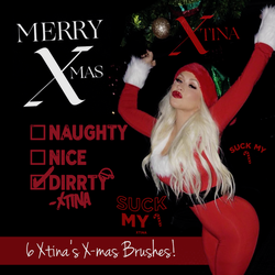 Christina Aguilera Christmas Photoshop Brushes by xtinadaily