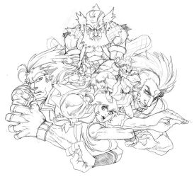 SKETCH - Dragon's Tale characters 03 by ZehB