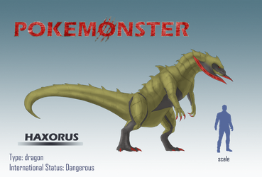 Pokemonster - Haxorus by MissMagnificent