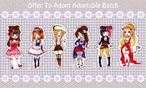 [OFFER TO ADOPT] Adoptable Batch [CLOSED] by Chancetodraw