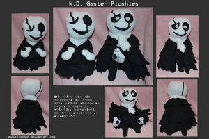 W.D. Gaster Plushies by DonutTyphoon