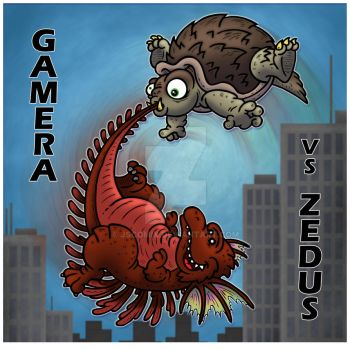 KaiJuly Day 19: Gamera the Brave by JSComix