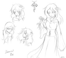 Immortal Rose: Concept Sketches by SpectralPony