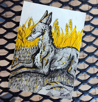 ACEO ~ Yellow Day by yikoo