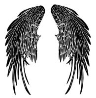 Angel wings tattoo V3 by Quicksilverfury