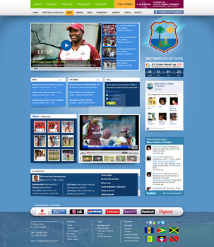 WESTINDIES CRICKET BOARD Website Design by decolite