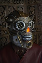 SteamSkull Full Head Mask by SavagePunkStudio