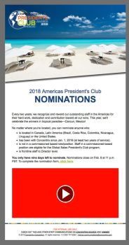 Concentrix Presidents Club Email Template by Vikingjack