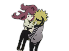 Minato And Kushina Render by xRinOkumurax
