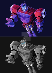 TFA: Optimus Prime (Cybertronian Ver.) by KokoCereal