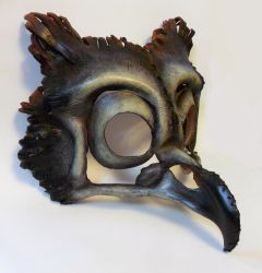 Owl Skull Leather Mask by LibertiniArts