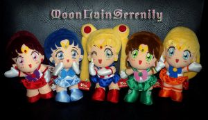 10th Anniversary Plushies by MoonLainSerenity