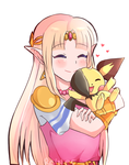 Pichu and Zelda by Roiner-Rinku