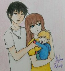 Kinu, Hosaka and baby! (request) by ChaosAna13