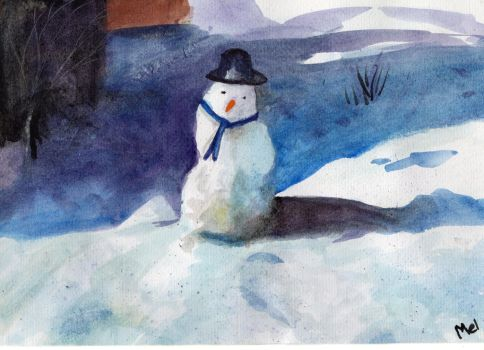 snow person by rainbow-falls