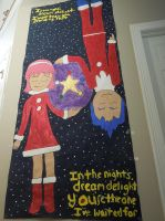 Christmas NiGHTS Door Design by MidniteAndBeyond