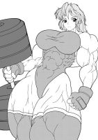 Rough muscle girl by RENtb