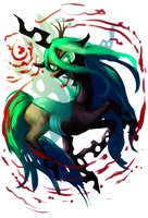 Queen Chrysalis by Manic-and-Monstrous