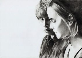 Ron and Hermione by Megneoulie