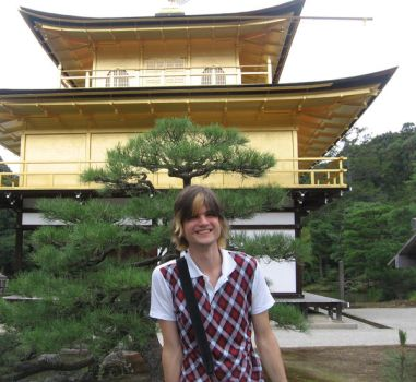In front of Kinkakuji by jande