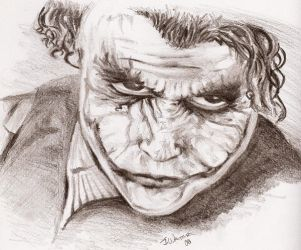 Heath Ledger Joker 2 by RayneofVengeance