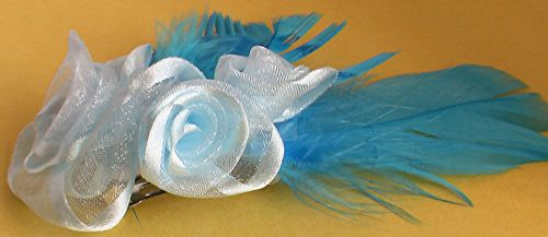 Blue hair fascinator by Craftcove