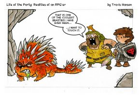 touch a monster - rpg comic by travisJhanson