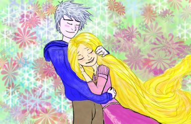 Jack Frost And Rapunzel - Jackunzel by FreshSketchBookBaby