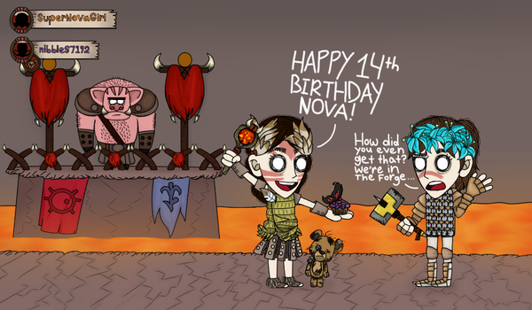 [G] Nova's Birthday In The Forge by nibbles7192